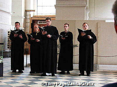A performance by priests