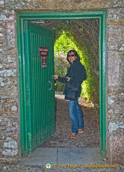 Me, entering the Castle of Mey Gardens