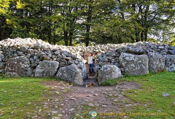 Tony checks out the North-east Cairn burial chamber