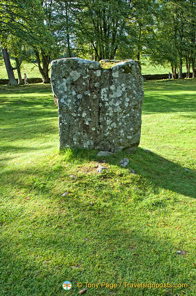 A large standing stone