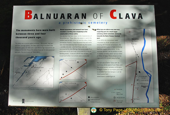 About the Balnuaran of Clava burial cairns