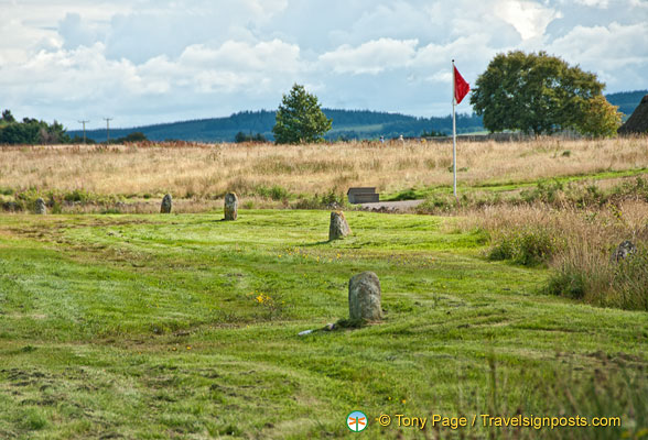 Stone markers of Clan graves