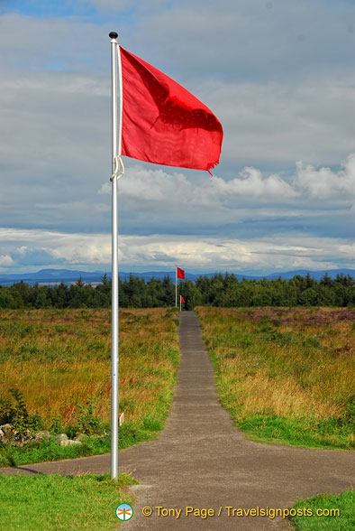 Red flag marking the Government front line