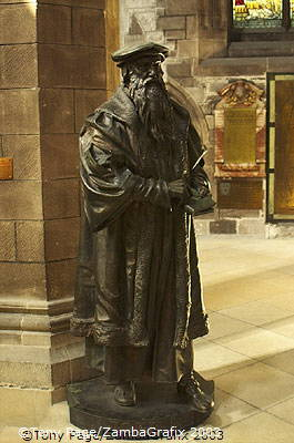 Statue of John Knox, the famed Protestant preacher [St Giles Cathedral - Edinburgh - Scotland]