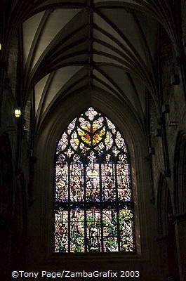The Burns Window celebrates the major themes of Robert Burns' poetry  [St Giles Cathedral - Edinburgh - Scotland]