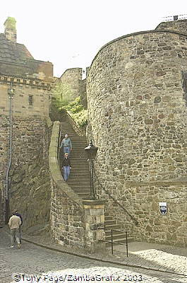 The Lang Stairs - originally the link between the upper and middle wards of the castle