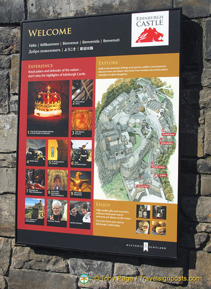 Edinburgh Castle map and attractions
