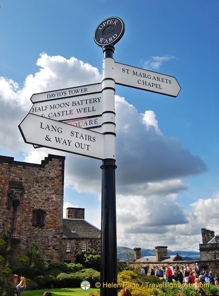 Signpost at the Upper Ward