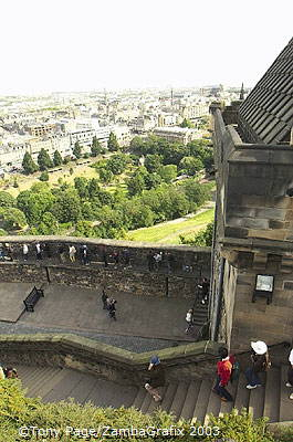 Views from the top of Edinburgh Castle