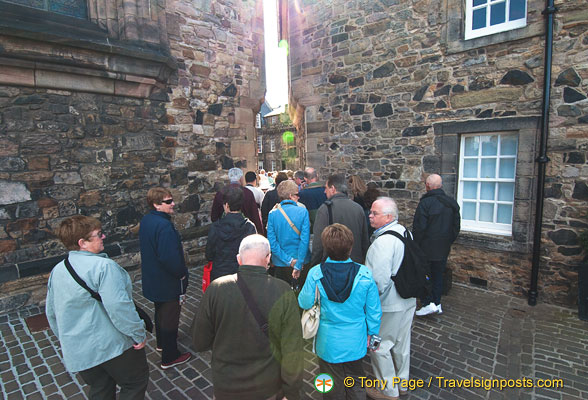 Edinburgh Castle visitors from Insight Vacations
