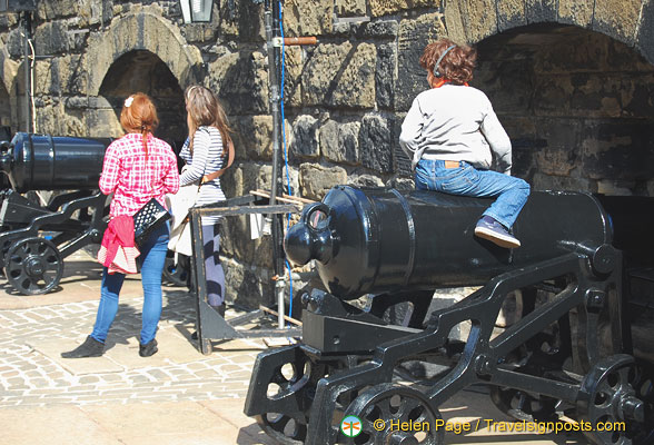 The cannons are popular attractions