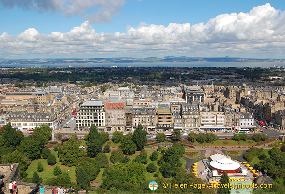 The view north over Edinburgh city