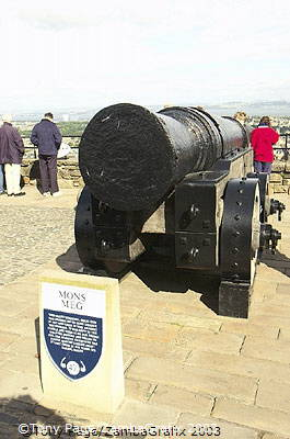 Mons Meg, a six ton siege cannon given to James II in 1457