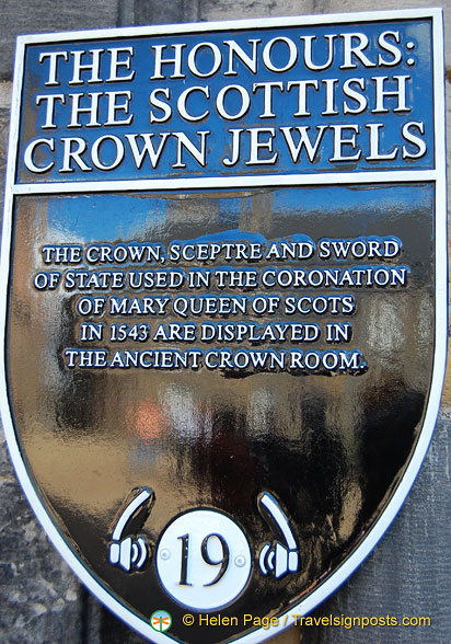 The Crown, Sceptre and Sword of State are on show in the Crown Room of the Royal Palace