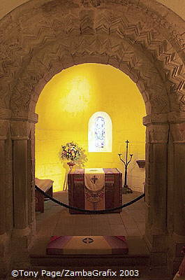 St. Margaret's Chapel is dedicated to the Queen of Malcolm III