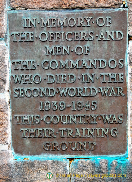A memorial to the officers and men of The Commandos