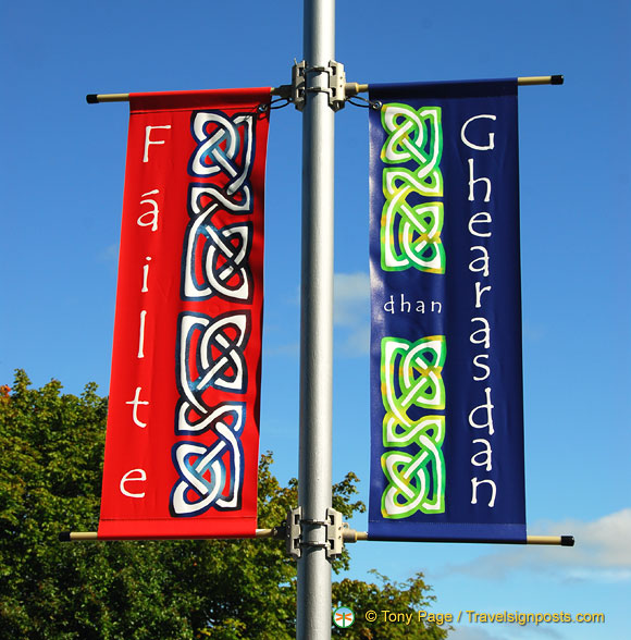 Colourful welcome flags