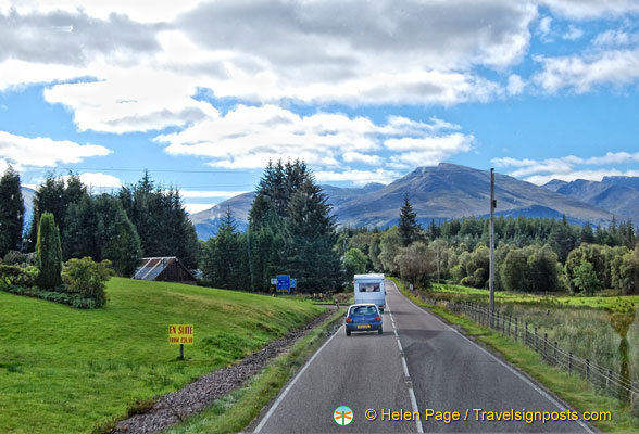 On the road to Fort William