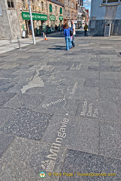 Pavement map of the West Highland Way