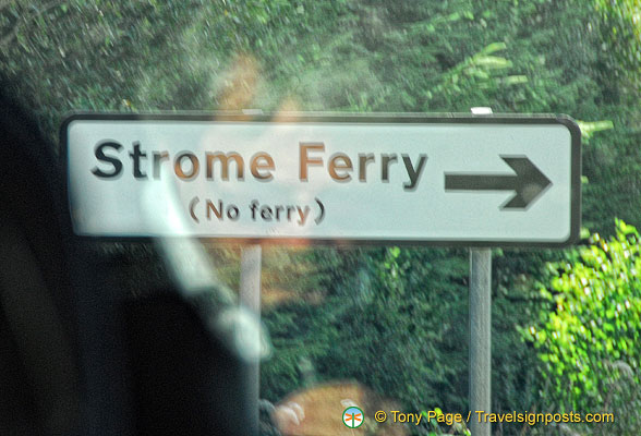 There's no ferry at Stromeferry because Stromeferry is a village