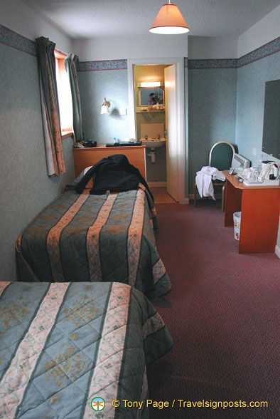 Double room at Tongadale hotel is the smallest we've come across