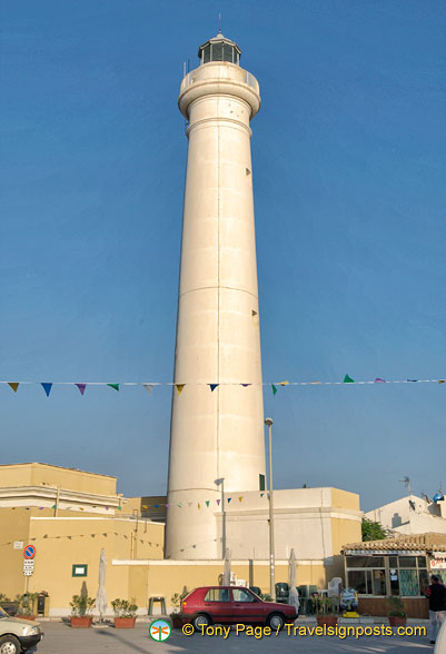 The famous Punta Secca lighthouse in Montalbano scenes