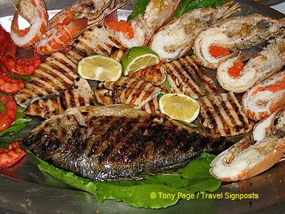 Signature seafood platter at La Barca