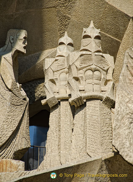 Passion Facade sculptures