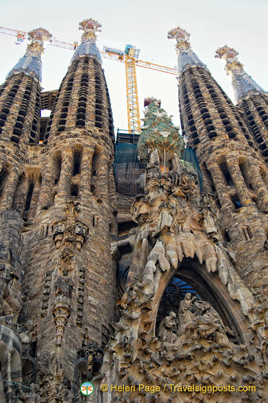 Sagrada Familia: The Nativity Facade is dedicated to the birth of Christ.
