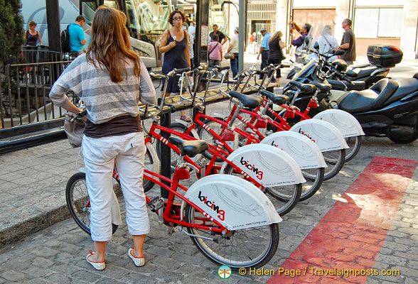 Bicing Barcelona, the equivalent of the Velib in Paris
