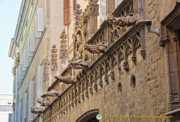 Gargoyles on the Palau de la Generalitat