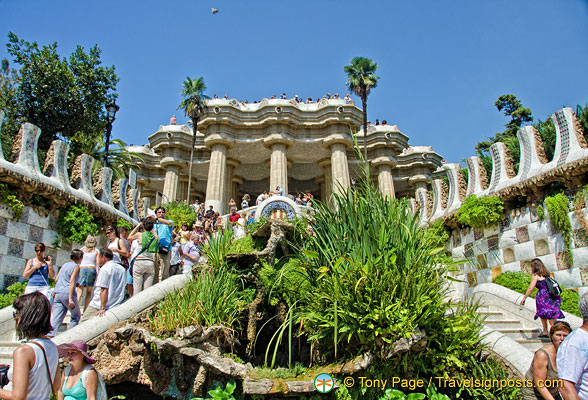 The grand staircase to Parc Guell