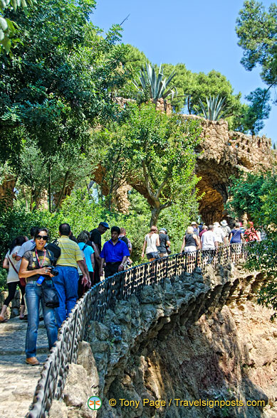 The interesting passage out of Parc Güell