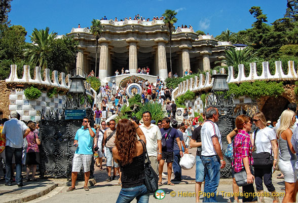 A picture paints a thousand words and the main entrance to Parc Guell says it all.