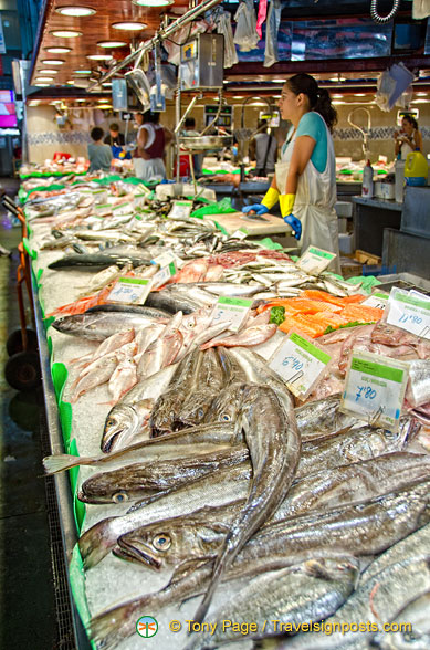 There's plenty of fresh fish at La Boqueria