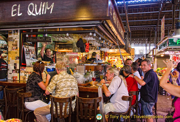 El Quim is one of the eleven bar/restaurants in La Boqueria