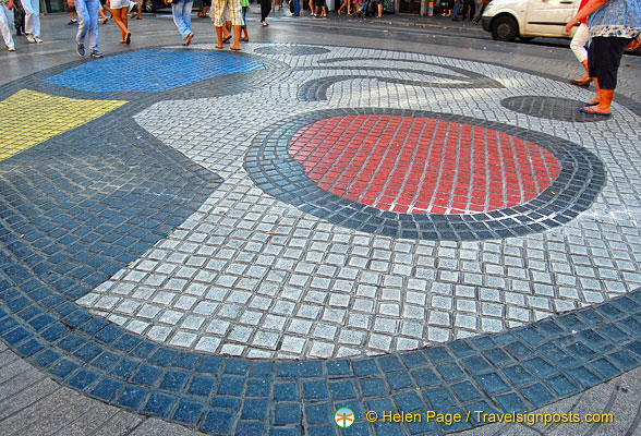 Joan Miro pavement mosaic
