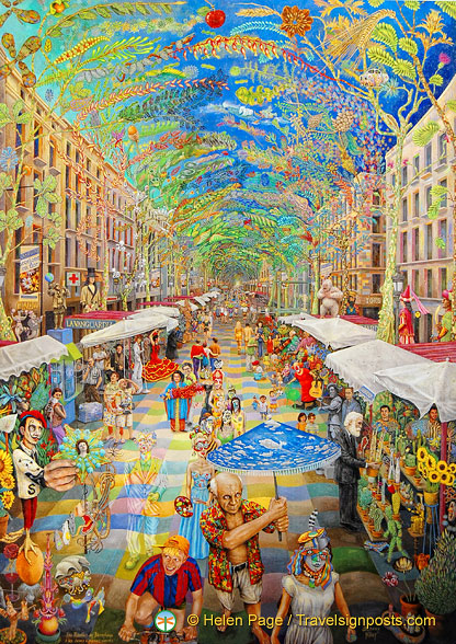 An artist's impression of Las Ramblas