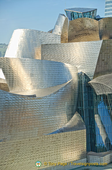 The beautiful swirling design of the Guggenheim Bilbao
