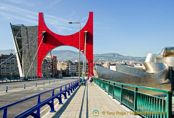 Puente de la Salve's bright red arches