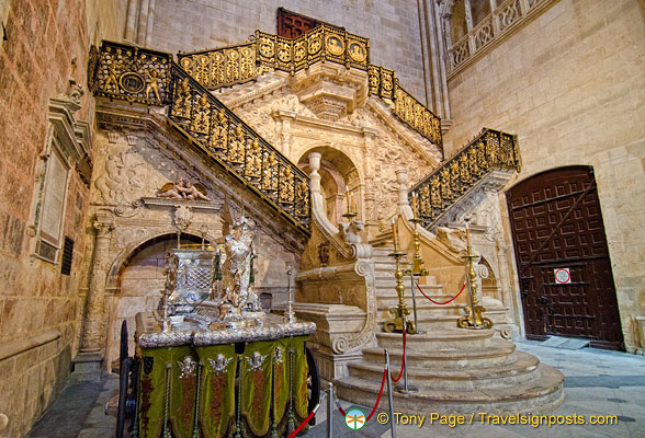 Burgos cathedral renaissance style golden staircase What is style