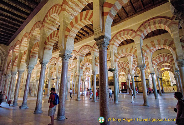 The Mezquita is famous for its giant arches and columns