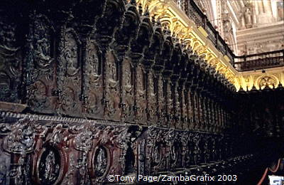Ornate Cathedral Choir Stalls