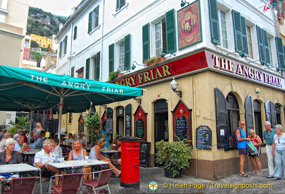 The Angry Friar - one of the many pubs in Gibraltar