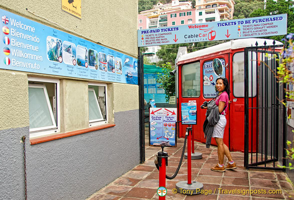 Heading for the Gibraltar cable car ticket office