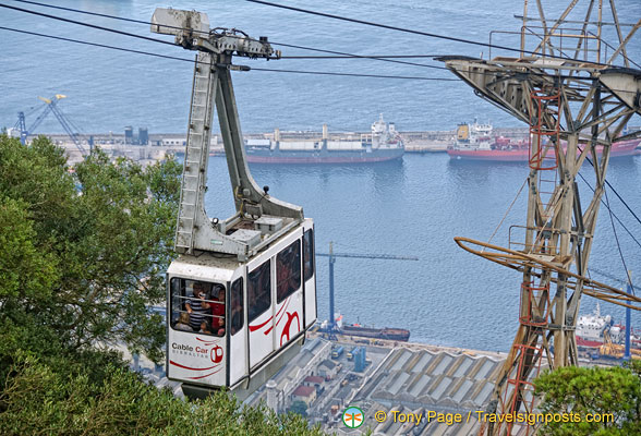 Gibraltar port and cable car