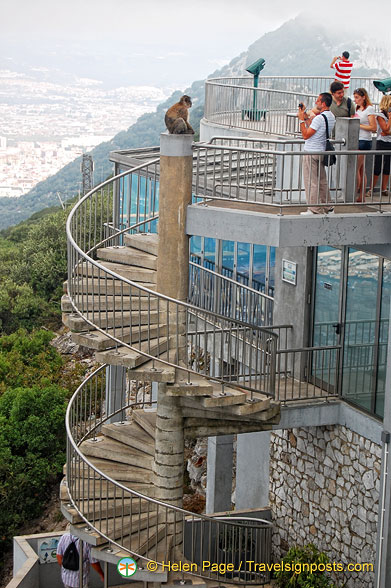 Spiral staircase to the top platform of The Rock