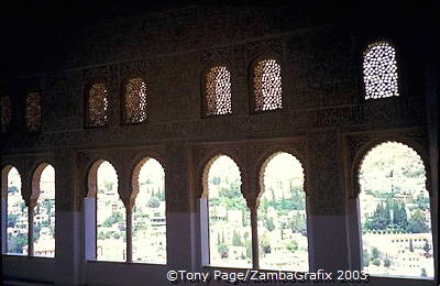 The Alhambra was built under Ismail I, Yusuf I and Muhammad V when the Nasrid Dynasty ruled Granada