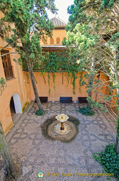 One of the small Alhambra courtyards