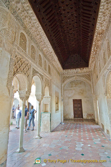 Palace of the Generalife: Royal chamber